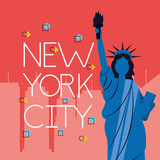 Fototapeta Miasto - new york city card © Gstudio Group