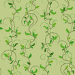 Vector illustration. Seamless pattern background of spring branches - 245141835