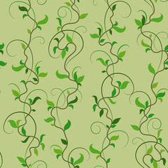 Vector illustration. Seamless pattern background of spring branches