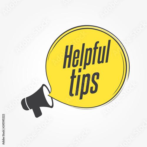 Helpful Tips Megaphone Announcement