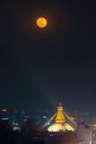 Boudhanath stupa during a full moon night in Kathmandu, Nepal - 245150214