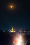Boudhanath stupa during a full moon night in Kathmandu, Nepal - 245150229