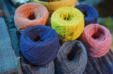 natural Indigo dyed thread spools - 245152052