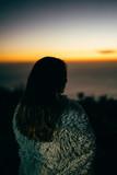 Fototapeta Zachód słońca - Sunset Girl © James