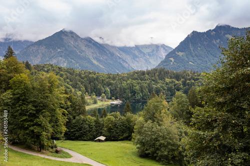 Freibergsee, Oberstdorf, Stillachtal, Allgäu, Allgäuer Alpen, Bayern, Deutschland, Europa