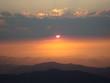 Abendrot Aussicht über Hügel
