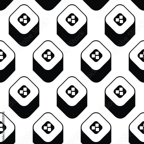 Sushi  icons seamless pattern. Vector background. Flat style © oksanase