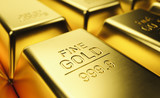 Fine Gold Bar macro . Concept of success in business and finance. - 245187694