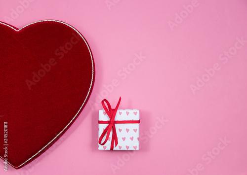 Velvet heart and wrapped gift - 245201811