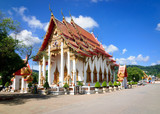 Ubosot-the main temple of the Buddhist temple complex Wat Chalong in Phuket.