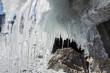 Leinwanddruck Bild - Icicles of Lake Baikal