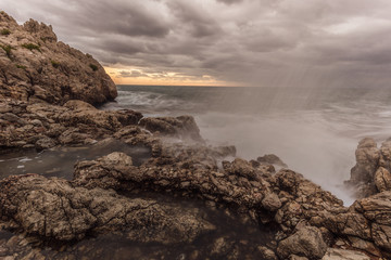 Sicilian Coastal Landscape in the morning hours in Italy, Europe © andiz275