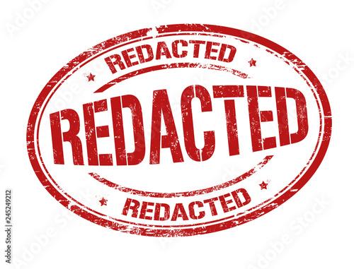 Redacted sign or stamp