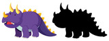 Fototapeta Dinusie - Set of dinosaur character © brgfx