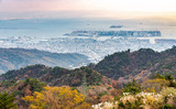 Port of Kobe from Rokko mountain view