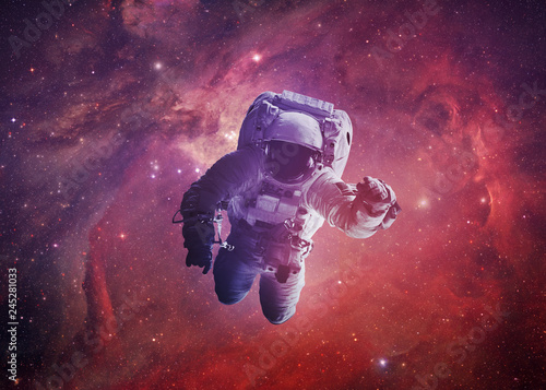 Astronaut Afloat - Elements of this Image Furnished by nASA - 245281033