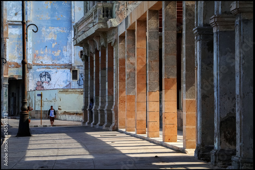 Cuba. Havana. Fragment of the embankment and the colonial architecture of the old city.
