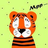 vector illustration, tiger cartoon