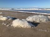 Nordsee mit Schaum