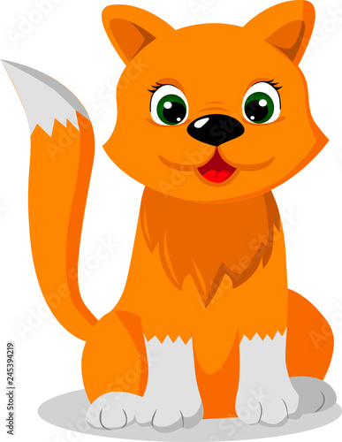 cat cartoon vector illustration