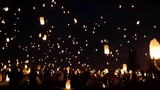 The rising of thousands of lanterns in 4k - 245396642