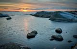 Fototapeta Zachód słońca - Swedish sea winter sunset © Piotr Wawrzyniuk
