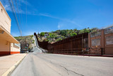 United States Border Wall with Mexico at Nogales Arizona - 245453429