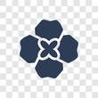 Gardenia icon vector