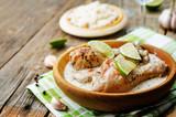 coconut garlic lime chicken legs - 245481689