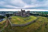 Aerial view of the Rock of Cashel in Ireland