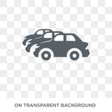 Car collection icon. Trendy flat vector Car collection icon on transparent background from Luxury collection. High quality filled Car collection symbol use for web and mobile