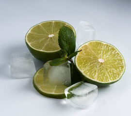 Lime with ice