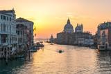 Sonnenuntergang über dem Canal Grande, Venedig, Italien
