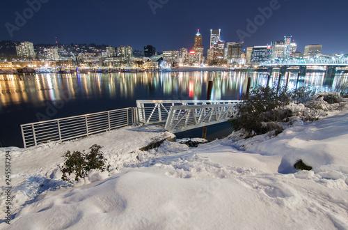Winter Landscape of Portland Oregon © Josemaria Toscano