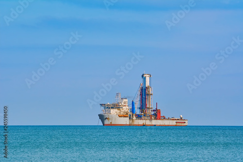 Drill Ship in Black Sea
