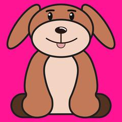 Dog in cartoon style.