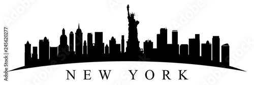 New York city silhouette - stock vector - 245620277