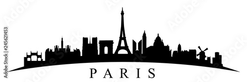 Paris silhouette - stock vector - 245621453