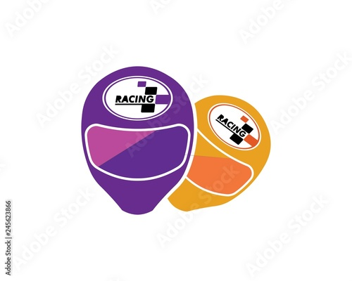 helmet vector icon logo illustration