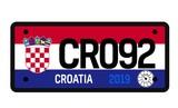 Croatia car plate design