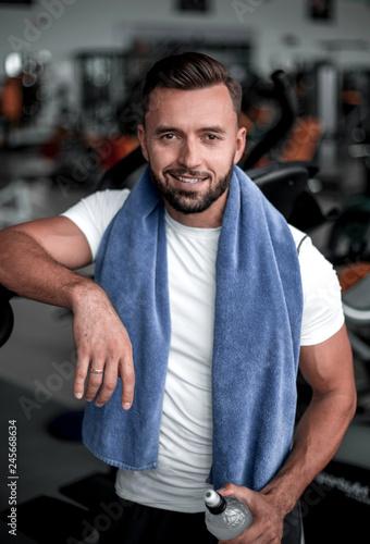 Leinwandbild Motiv close up.confident sports man in the gym.
