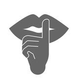 Keep silence symbol. Vector. - 245682083
