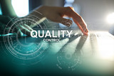 Quality control check box. Guarantee Assurance. Standards, ISO. Business and technology concept.