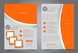 Flyer template. Brochur design for a business, education, advertisement. A4 poster layout Vector illustration. Orange color. - 245755458