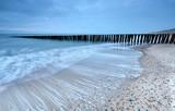 old breakwater on North sea coast