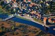 Leinwanddruck Bild - Loitz, Peene, Mecklenburg-Vorpommern, Deutschland, Luftaufnahme, 14.10.2018