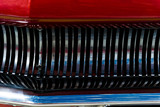 background - radiator grille of a vintage car