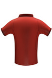 Red sports team shirt for mockup back