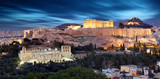 Parthenon of Athens at dusk time, Greece  - long exposure - 245879433