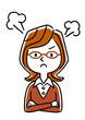 メガ�を���若�女性:怒る�怒り